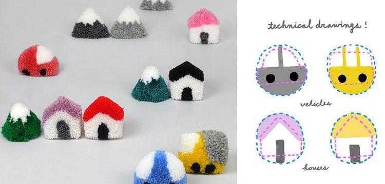 Spielzeugset Pompons