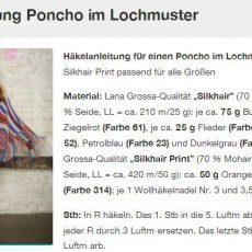 Häkelanleitung Poncho im Lochmuster