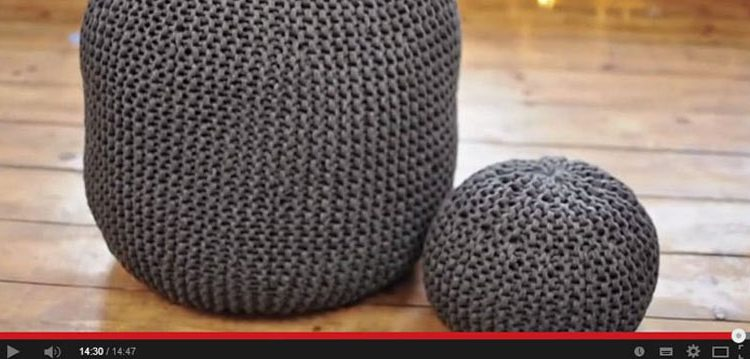 gestrickte sitzpoufs strickanleitungen. Black Bedroom Furniture Sets. Home Design Ideas