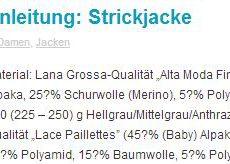 Anleitung Strickjacke