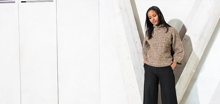 Kostenlose Anleitung: Quer gestrickter Pullover für den Winter