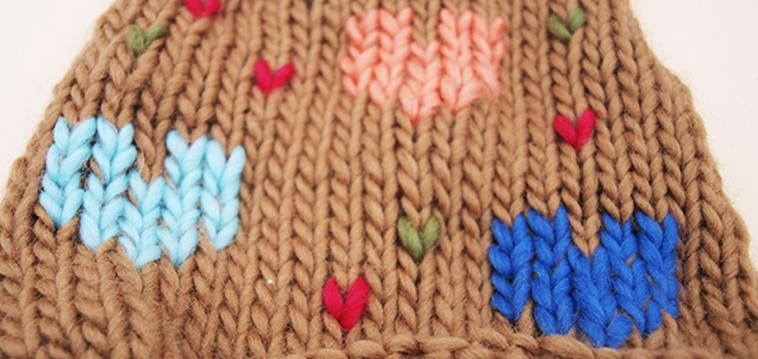 Stricktipp: Ganz einfach Muster auf die Strickprojekte sticken