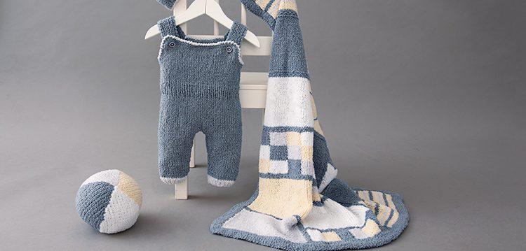 Kostenlose Anleitung: Bunte Babydecke mit Intarsienmuster - stricken.de