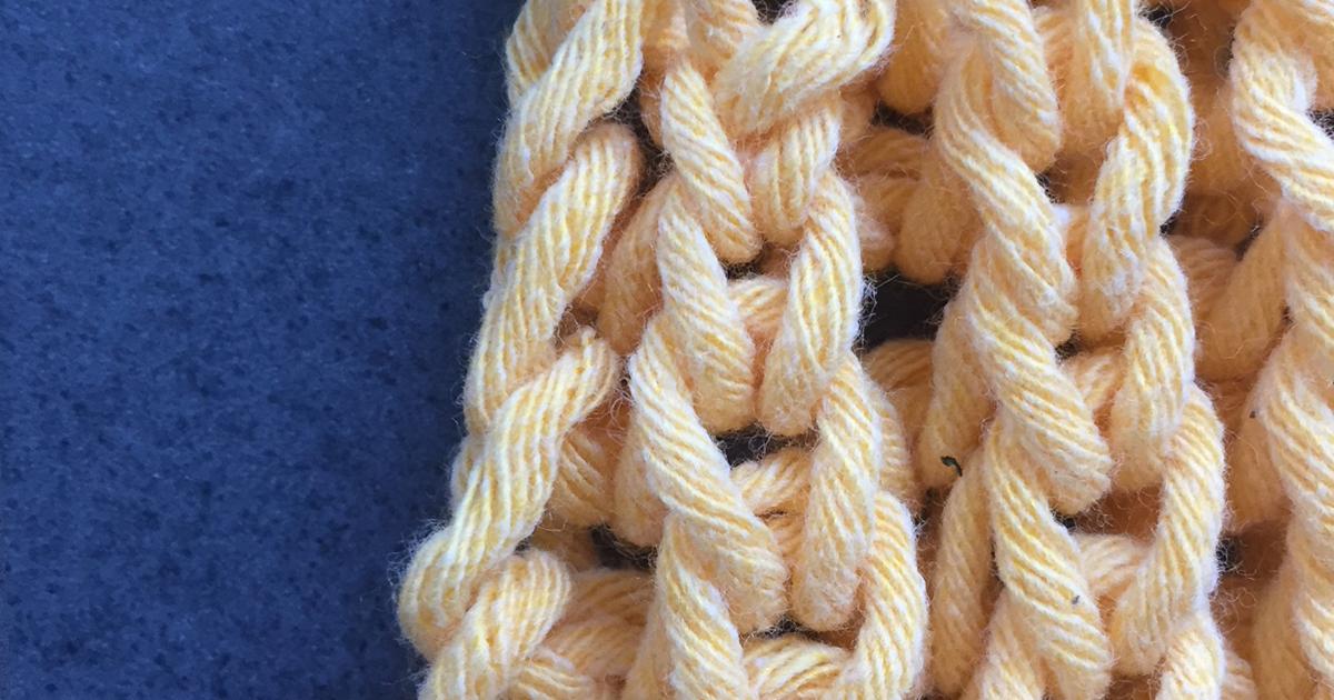Randmaschen Im Patentmuster Stricken In Der Strickende Strickschule