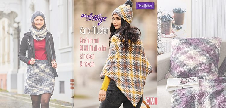 Woolly Hugs Karo Muster Einfach Mit Plan Multicolor Stricken Häkeln