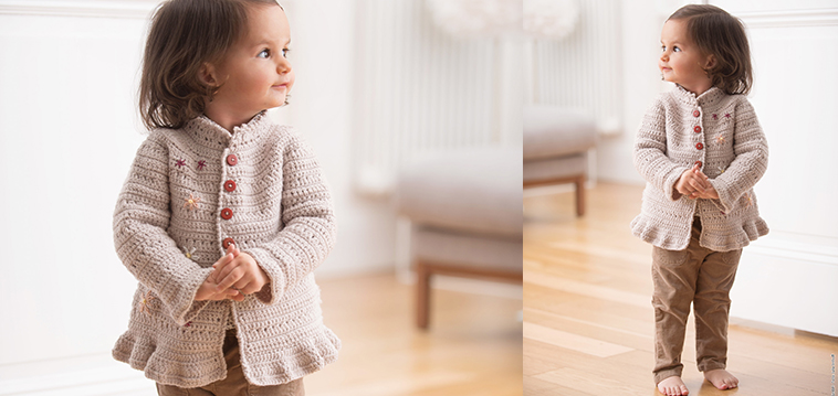 Jacke Mit Hübscher Borte Für Kinder Zum Häkeln Strickende